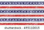 patriot day stars and stripes... | Shutterstock .eps vector #695110015