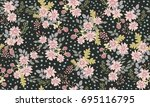 simple cute pattern in small... | Shutterstock . vector #695116795