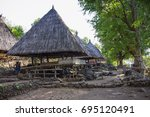 Small photo of Traditional houses of Abui Tribe in Takpala Village, Alor Island, Indonesia. July 10th, 2017.