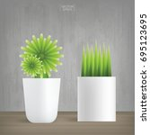 decoration plants with vintage...   Shutterstock .eps vector #695123695
