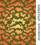 abstract camouflage pattern.... | Shutterstock .eps vector #695135854