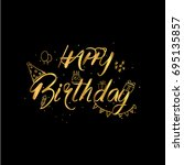 happy birthday day  fun... | Shutterstock .eps vector #695135857