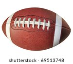 football isolated on white with ... | Shutterstock . vector #69513748