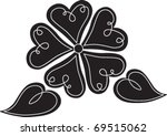 black and white flower made of... | Shutterstock .eps vector #69515062