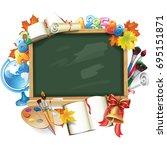 design template for back to... | Shutterstock .eps vector #695151871