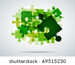 vector picture with green...