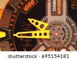 casio g shock watch model  ga... | Shutterstock . vector #695154181