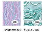 cover layouts collection with... | Shutterstock .eps vector #695162401