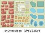 vector set of architectural... | Shutterstock .eps vector #695162695