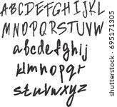 brush style hand draw font  | Shutterstock .eps vector #695171305