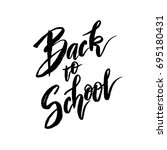text back to school   hand... | Shutterstock . vector #695180431