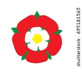 vector illustration  tudor rose ... | Shutterstock .eps vector #695181565