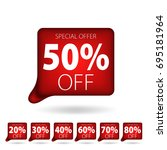 red tag special offer discount...   Shutterstock .eps vector #695181964