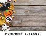 fresh halloween gingerbread... | Shutterstock . vector #695183569