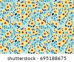 vector seamless pattern. pretty ... | Shutterstock .eps vector #695188675