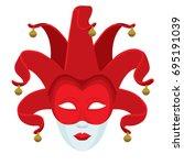 joker carnival face mask.... | Shutterstock .eps vector #695191039