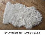 Photo Of A Sheepskin Wool Rug...