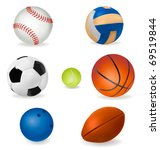 set of sport balls. vector | Shutterstock .eps vector #69519844