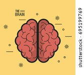 colorful poster the brain top... | Shutterstock .eps vector #695199769