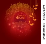 indian religion festival diwali ... | Shutterstock .eps vector #695201395