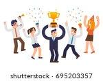 success   Shutterstock .eps vector #695203357