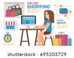 online shopping | Shutterstock .eps vector #695203729
