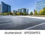 empty floor with modern... | Shutterstock . vector #695206951
