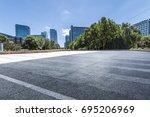 empty floor with modern... | Shutterstock . vector #695206969