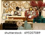 many clocks | Shutterstock . vector #695207089
