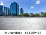 empty floor with modern... | Shutterstock . vector #695209489