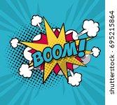 colorful background pop art... | Shutterstock .eps vector #695215864