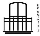 wide balcony icon. simple... | Shutterstock . vector #695215879