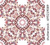 seamless floral pattern...   Shutterstock . vector #695219089