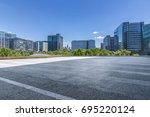 empty floor with modern... | Shutterstock . vector #695220124