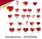 collection of various hearts.... | Shutterstock . vector #69522046
