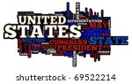 united states of america themed ... | Shutterstock . vector #69522214