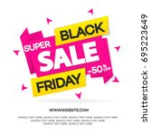 black friday sale banner for... | Shutterstock . vector #695223649
