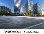 empty floor with modern... | Shutterstock . vector #695226061