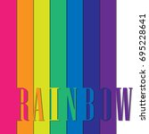 rainbow on white abstract... | Shutterstock .eps vector #695228641