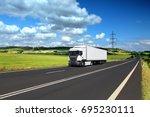truck transportation | Shutterstock . vector #695230111