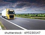 truck transportation   Shutterstock . vector #695230147