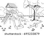 Playground Graphic Black White...