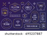 vector collection of vintage... | Shutterstock .eps vector #695237887
