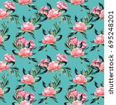 seamless pattern with... | Shutterstock . vector #695248201