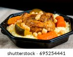 traditional moroccan dish... | Shutterstock . vector #695254441