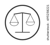balance icon vector flat design