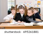 education concept   school... | Shutterstock . vector #695261881