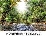 River In Jungle  Thailand