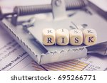 risk management and risk... | Shutterstock . vector #695266771