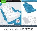 saudi arabia   info graphic map ... | Shutterstock .eps vector #695277355